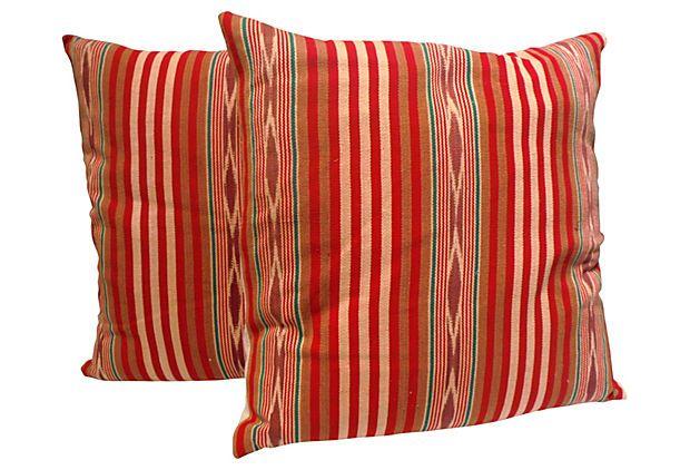 Mexican  Serape Weaving Pillows, Pair on OneKingsLane.com