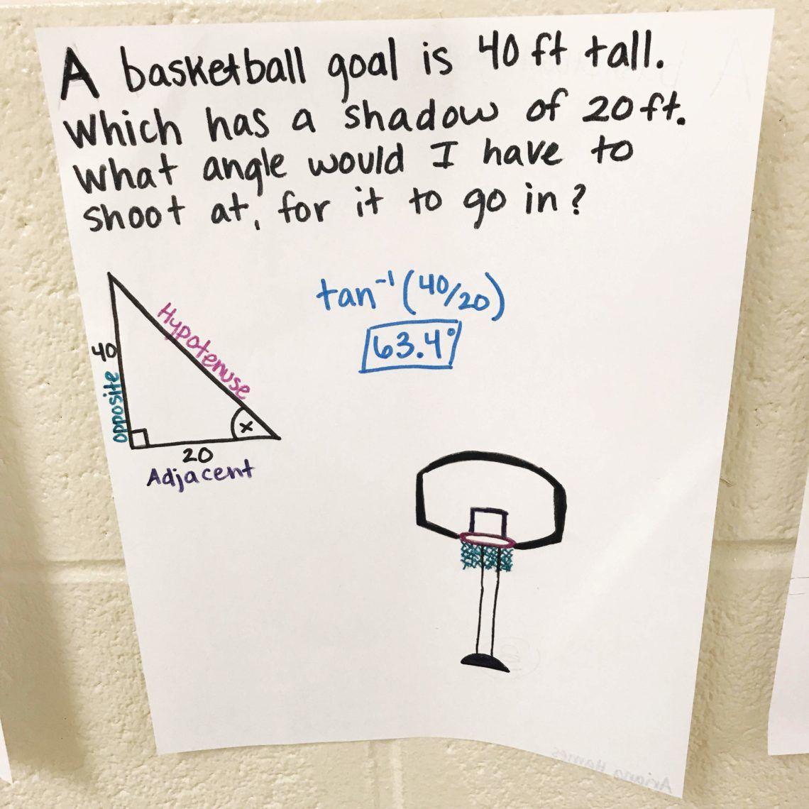 Trigonometry Lesson Word Problem Activity Lindsay Bowden Word Problems Trigonometry Geometry High School