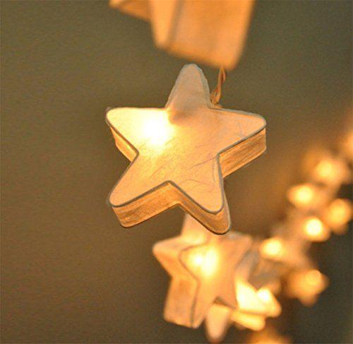 Every papierlampe f r kinderzimmer 3m 20er laternen stern starlight pinterest papierlampen - Papierlampe kinderzimmer ...