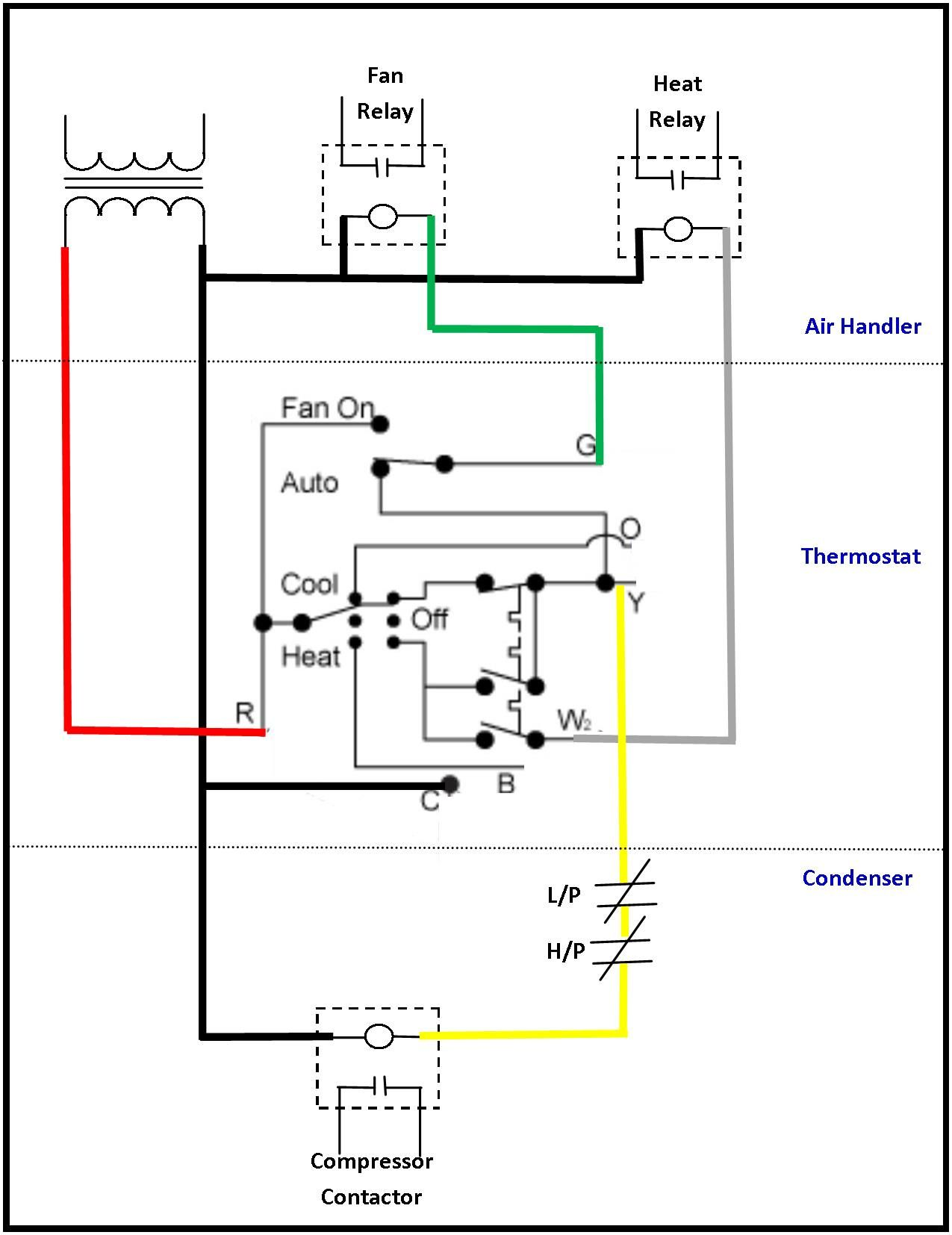 24 Volt Transformer Wiring Diagram | Thermostat wiring, Electrical circuit  diagram, Ac wiring | Hvac Fan Relay Wiring |  | Pinterest