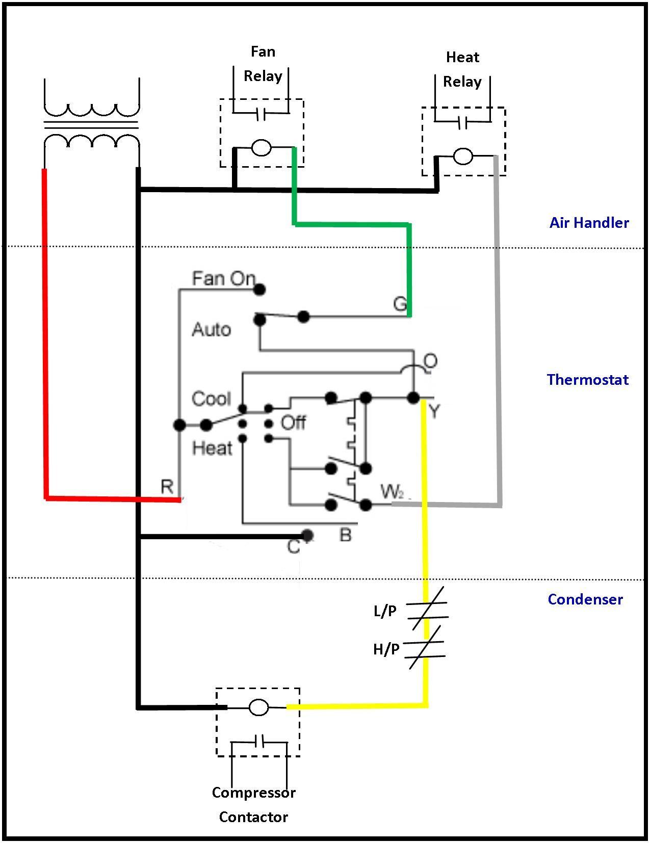 24 volt transformer wiring diagram  thermostat wiring ac