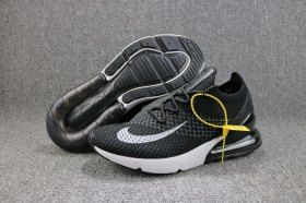 best service d309b 9e9c8 Radient Nike Air Max 270 Flyknit White Black AH8050 015 Men s Running Shoes  Sneakers
