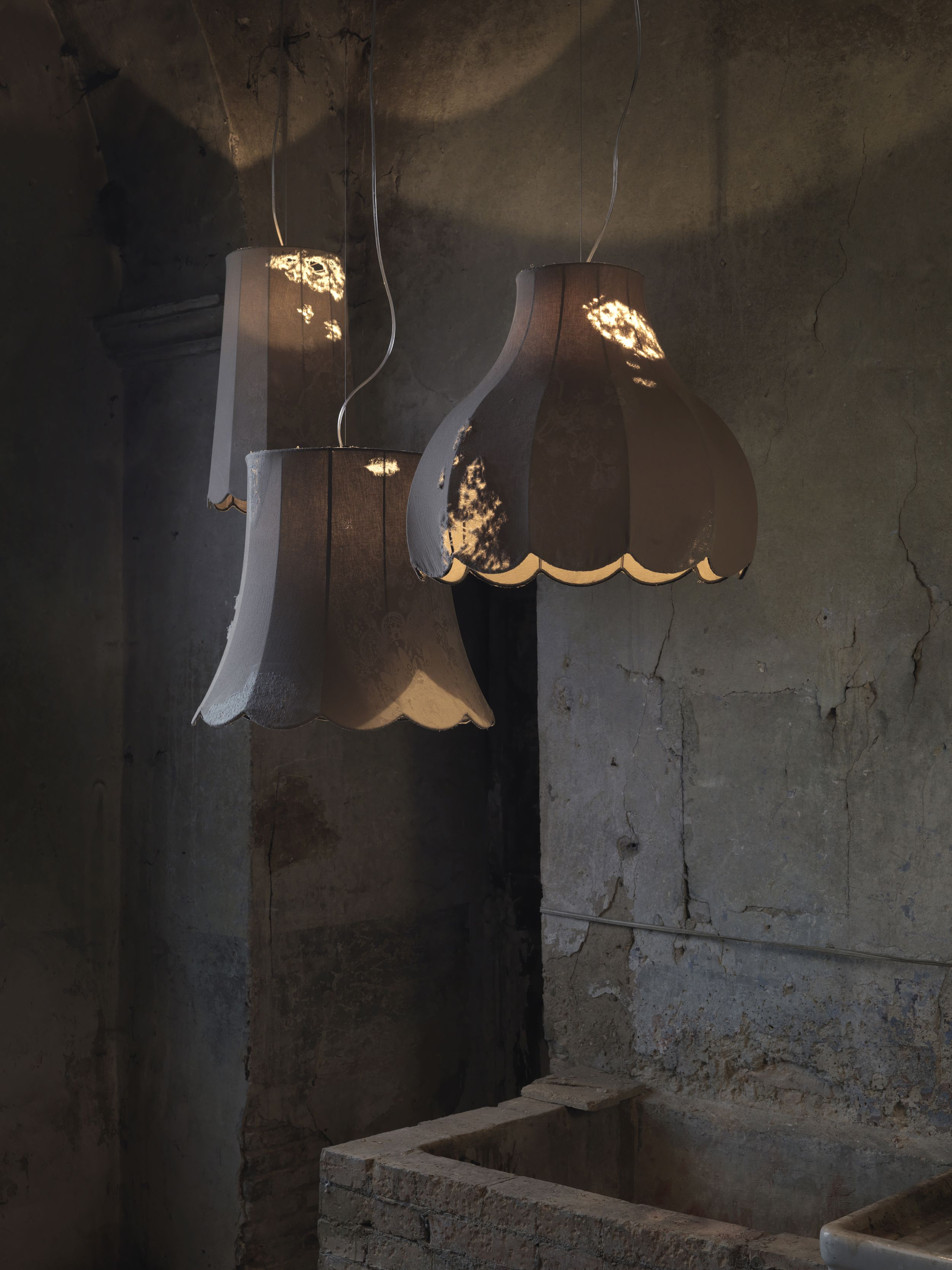 funky lighting ideas. Life - Structure In Rust Iron Fabric Denim With Vintage Processing Indoor #lightingdesign #homelightingideas. Funky LightingLighting IdeasLamp Lighting Ideas T