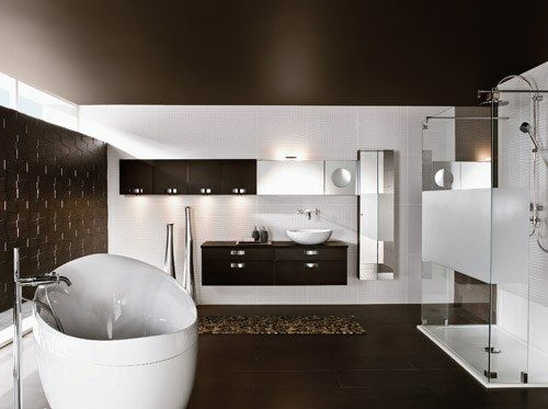 33 Dunkle Badezimmer Design Ideen   Dunkle Badezimmer Design Ideen  Minimalistisch Modern Modern Bathroom Minimalistic Look