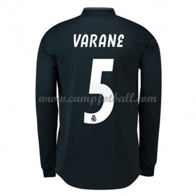fec77e6283e Real Madrid Fotballdrakter 2018-19 Raphael Varane 5 Bortedrakt Langermet