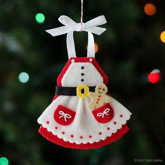 Mrs. C's Apron Felt Ornament PDF PATTERN