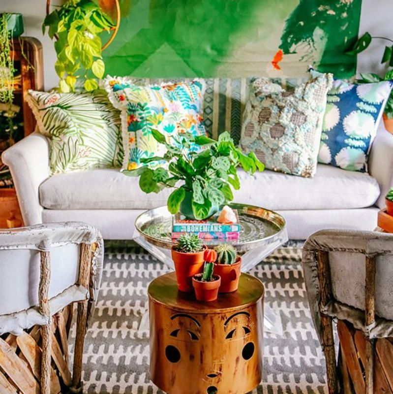Bohemian Style Living Room, Boho Chic Furniture And Accessories