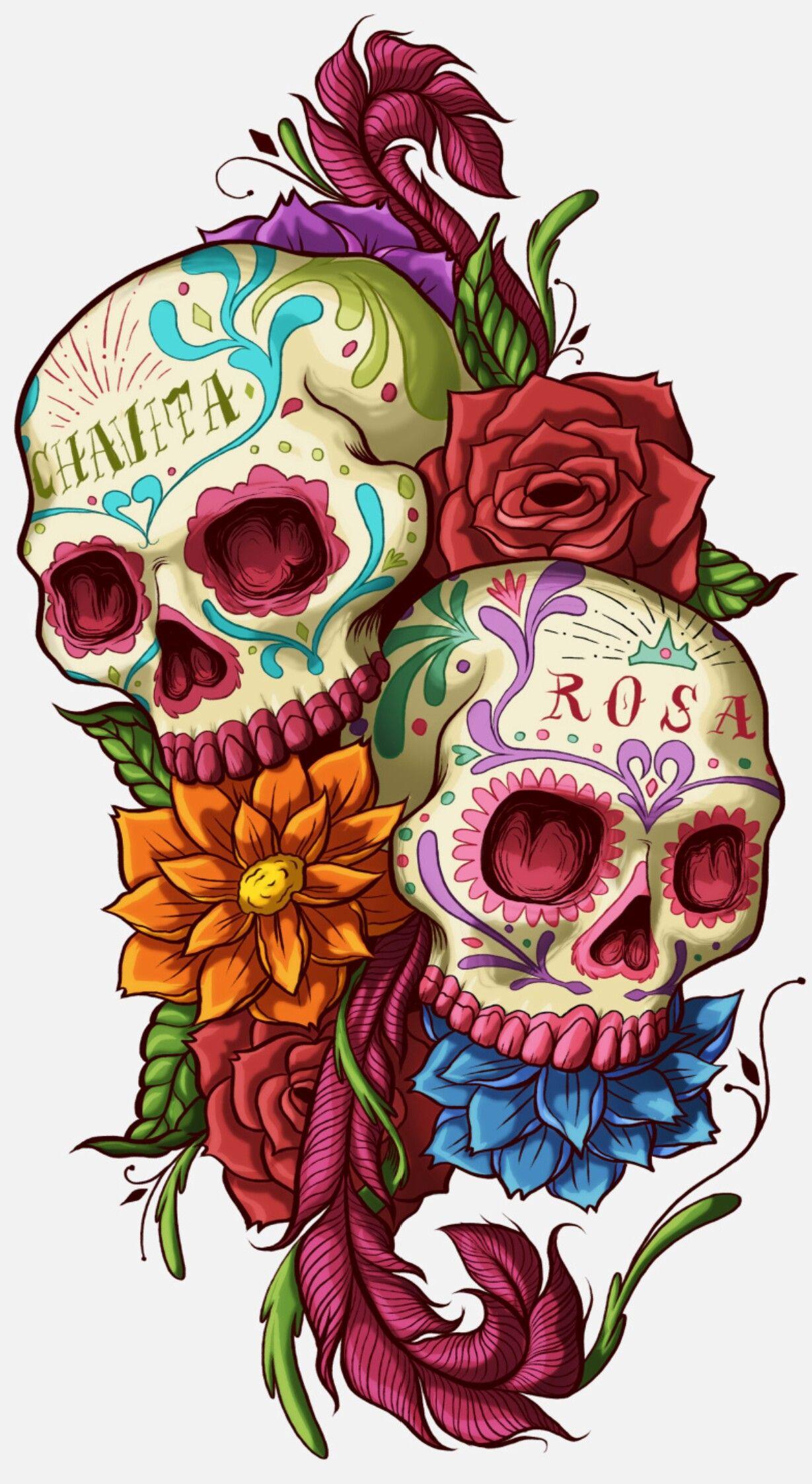 03684b287 Sugar Skull Art, Sugar Skulls, Sugar Skull Tattoos, Mexican Skulls, Mexican  Folk
