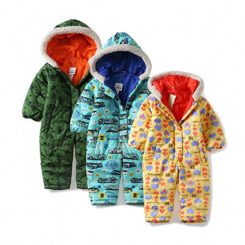 d4844a9a2f7824 Baby snowsuit autumn windproof waterproof Baby Rompers Baby Girl baby boy  Coverall Hooded Infant Clothing Newborn