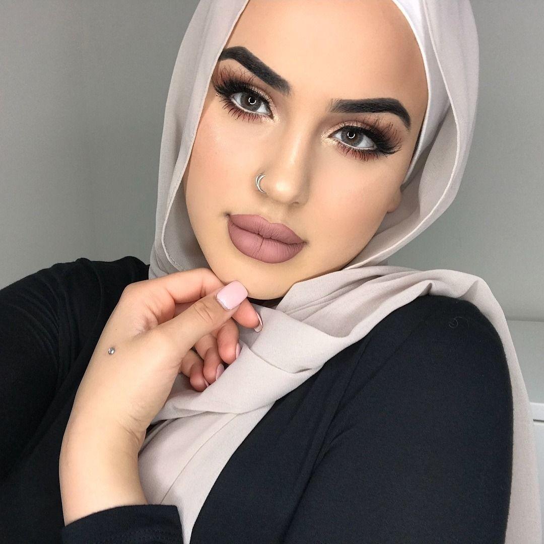 BABY LUCIFER Hijab makeup, Makeup inspiration, Bold makeup