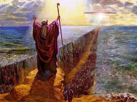 MOSES PARTING THE RED SEA: In the bible Moses was chosen to lead ...