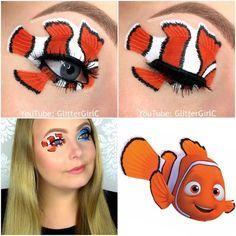nemo makeup look  disney makeup disney eye makeup