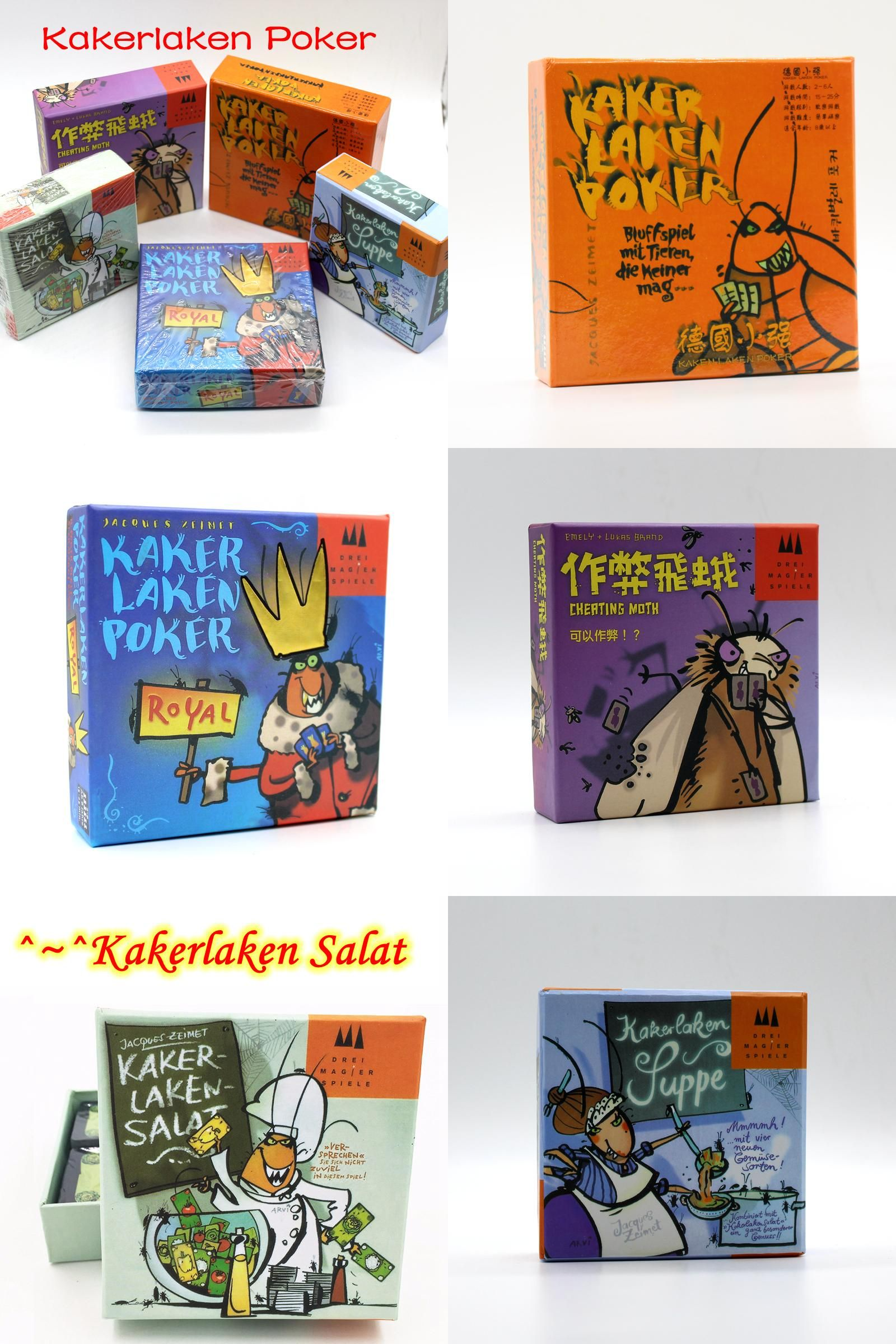 Visit To Buy 5 Options Funny Cards Game Kakerlaken Salat Poker Royal Suppe Mogel Motte Board Game Family Party Cockroach Family Games Card Games Funny Cards