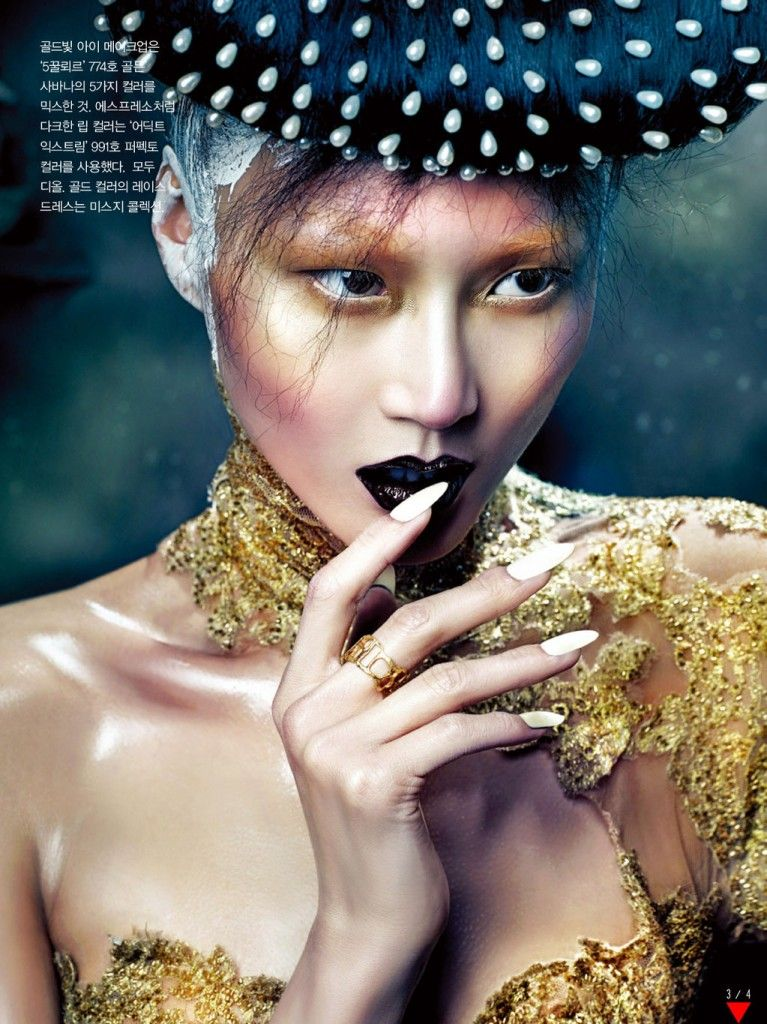 gothic beauty editorial for vogue korea october 2012 by hyea w kang