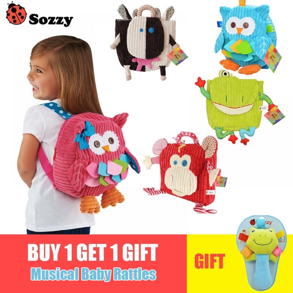 Sozzy 25cm Cute Plush School Backpacks Animal Figure Bag Kids/' schoolbag