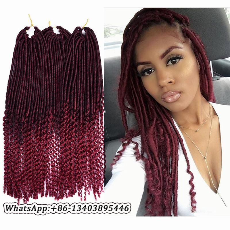 Synthetic Hair For Braiding 20inch 24strands Goddess Faux Locs