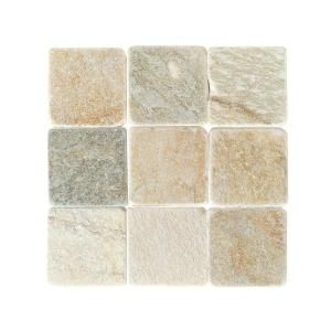 Tile For The Fireplace Hearth Daltile Travertine Autumn Mist 12 In X Tumbled Stone Floor And Wall 10 Sq Ft Case Ts7112121p At Home