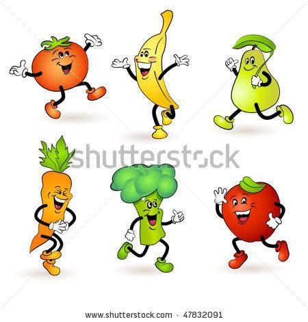 Fruit And Vegetable Characters Vegetable Cartoon, Cute Food Drawings,  Fruits And Vegetables