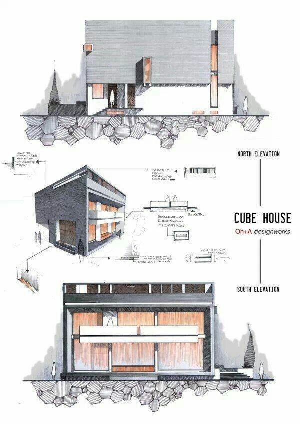 Cube house architectural drawings pinterest cube for Cube house design layout plan
