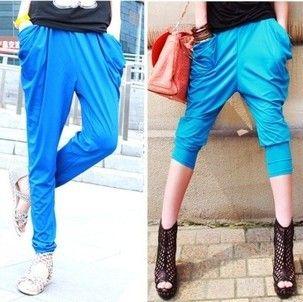 Transporte livre novo 2013 harem pants mulheres slim era magro doces colorido pés calças de lazer calças de