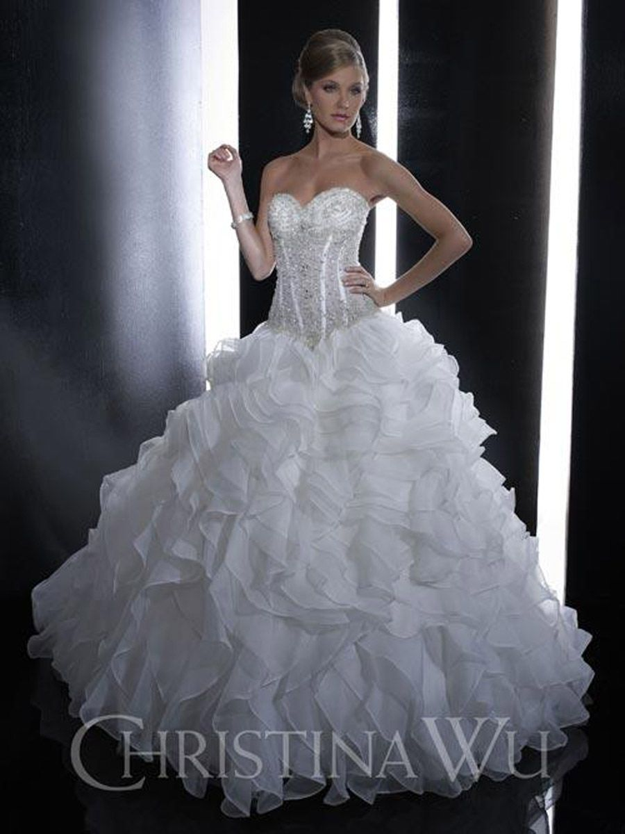 Christina Wu 15517 On Terry Song Costa This Strapless Wedding Dress Features A Sweetheart
