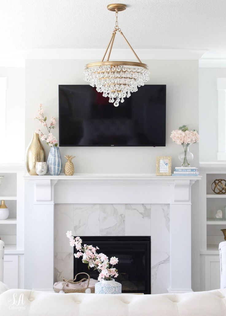 Living Room Update: New Chandelier, Rug & Art - Summer Adams