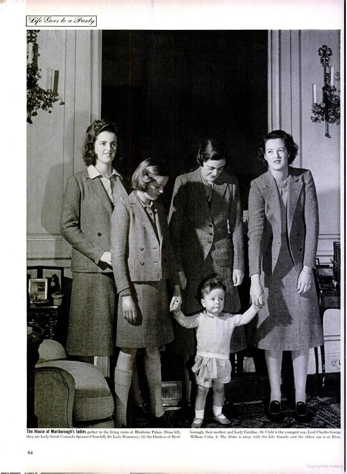 Consuelo's daughter-in-law, Alexandra and grandchildren