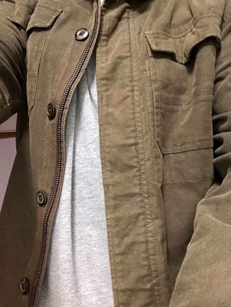 ff56311b29c6 Converse One Star Mens Jacket L Military Style Hipster Zipper   Buttons  Front  fashion  clothing  shoes  accessories  mensclothing  coatsjackets ( ebay link)