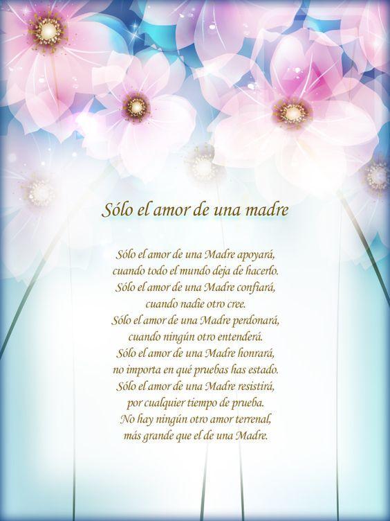 Poemas Para Madres Cristianas Solo El Amor De Una Madre Poema