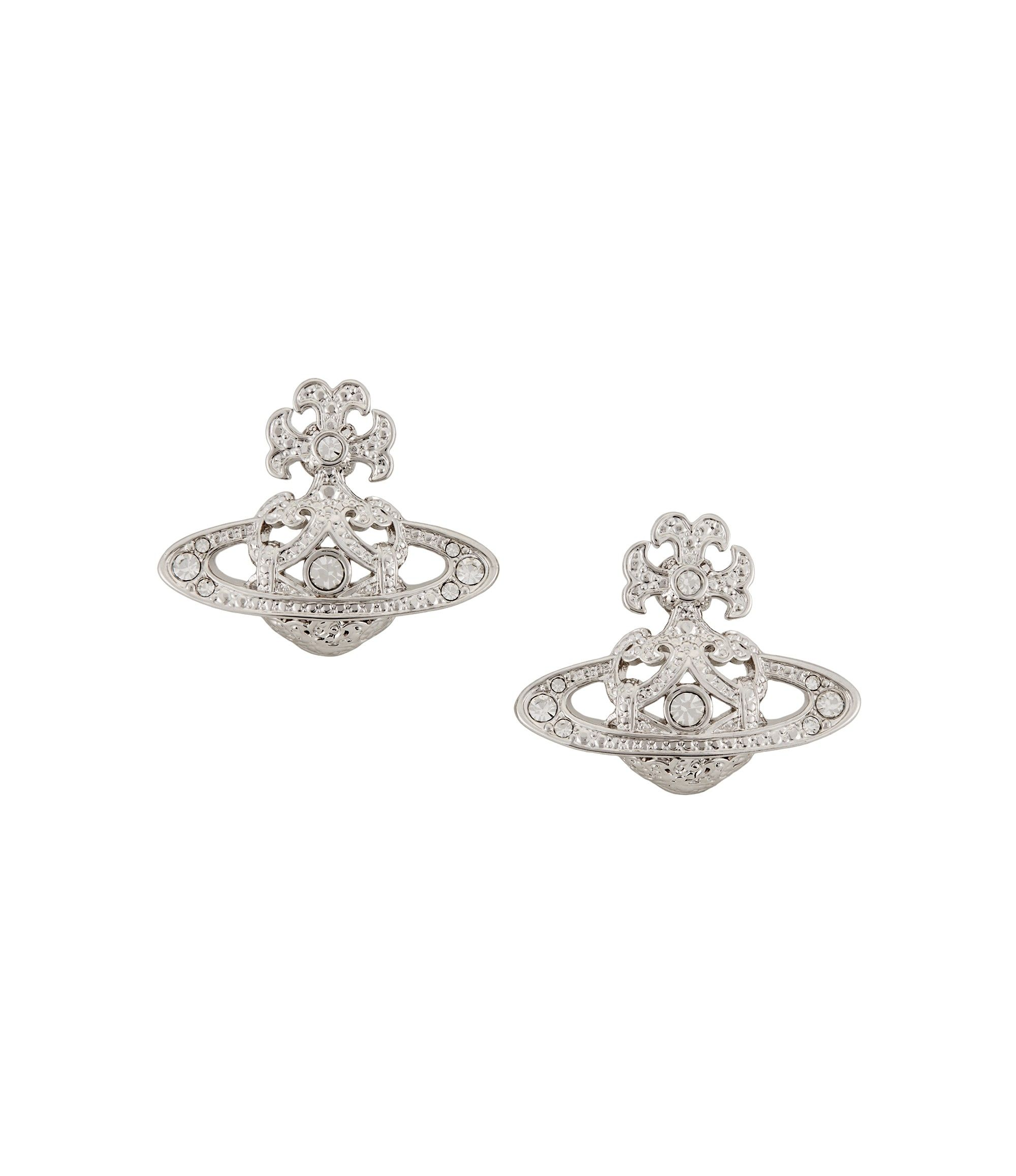 Vivienne Westwood Earrings for Women, Black, Rhodium, 2017, One Size
