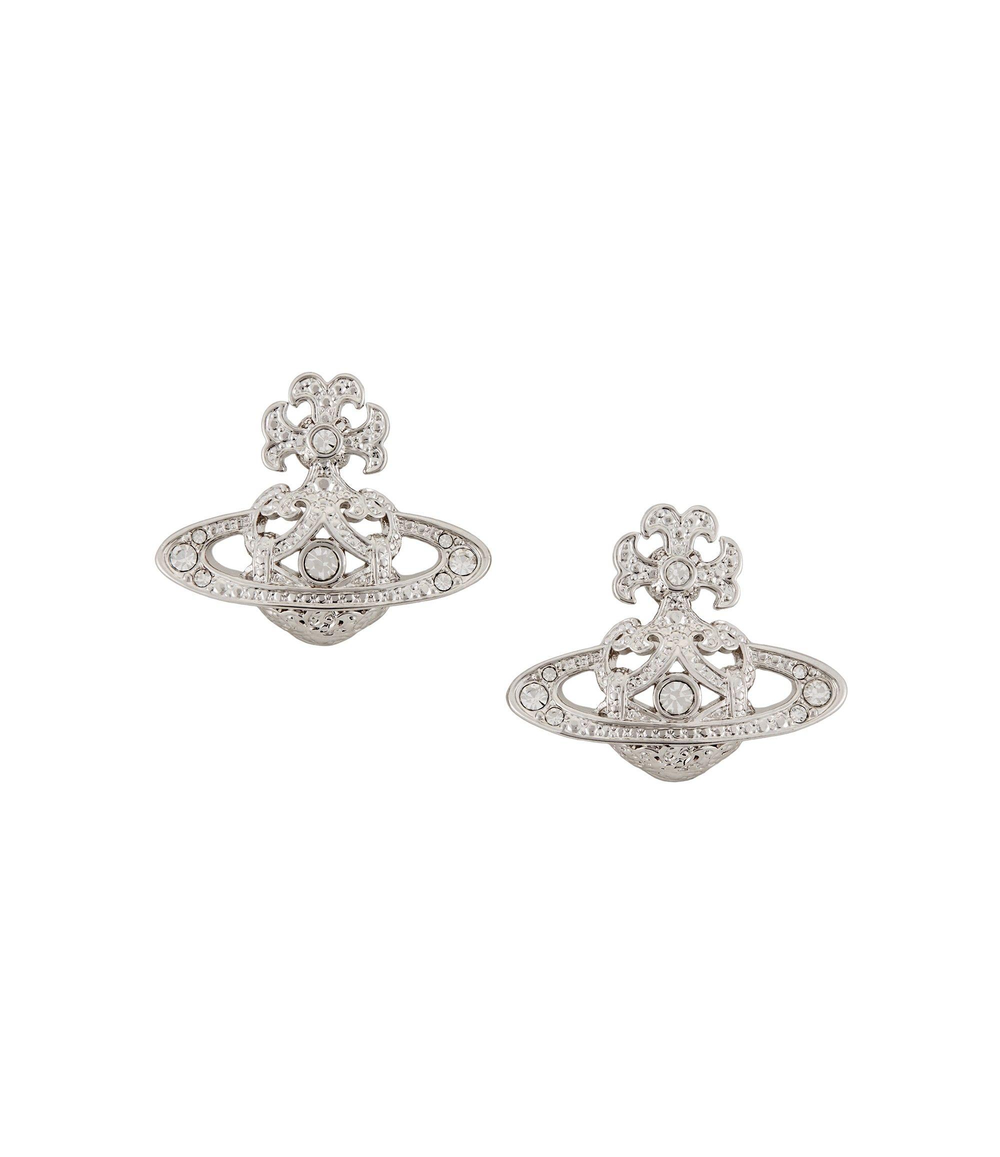 Vivienne Westwood Earrings for Women, Black, Rhodium, 2017, One Size