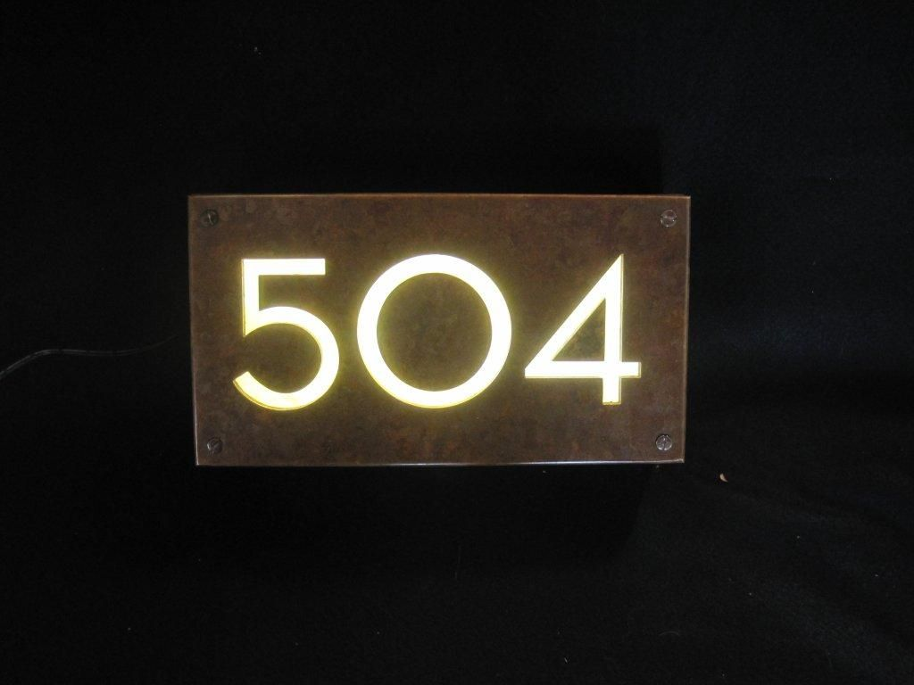 Copper Illuminated House Sign 1d Jpg 1024 768 House Numbers Illuminated House Numbers Home Signs