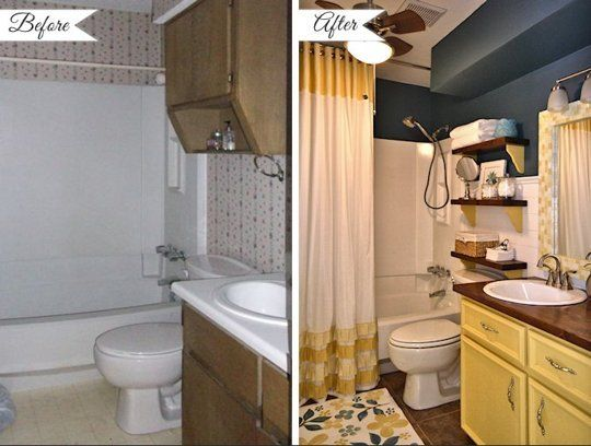 Before & After 10 Bathroom Makeover Projects From Around The Web Custom Before And After Small Bathrooms Design Ideas