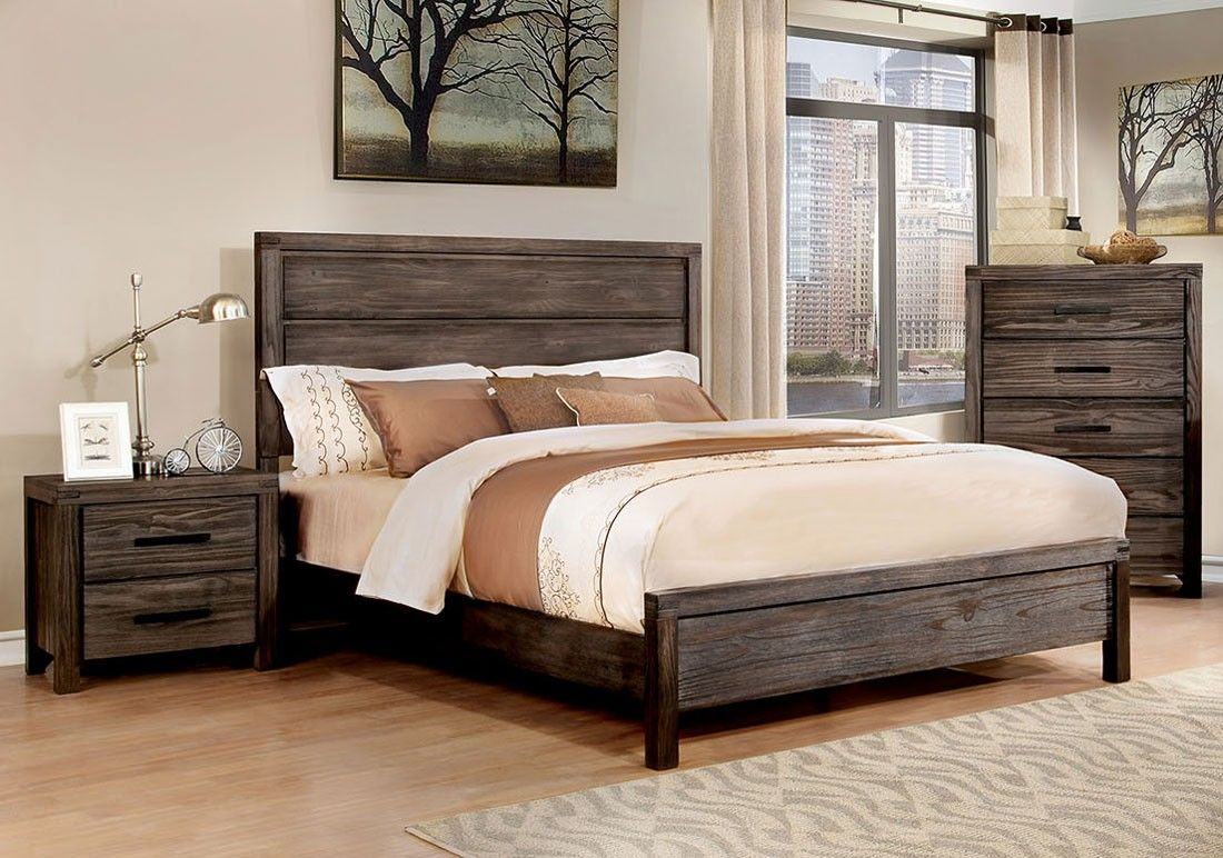 Barrison Industrial Style Bedroom Furniture  Industrial style