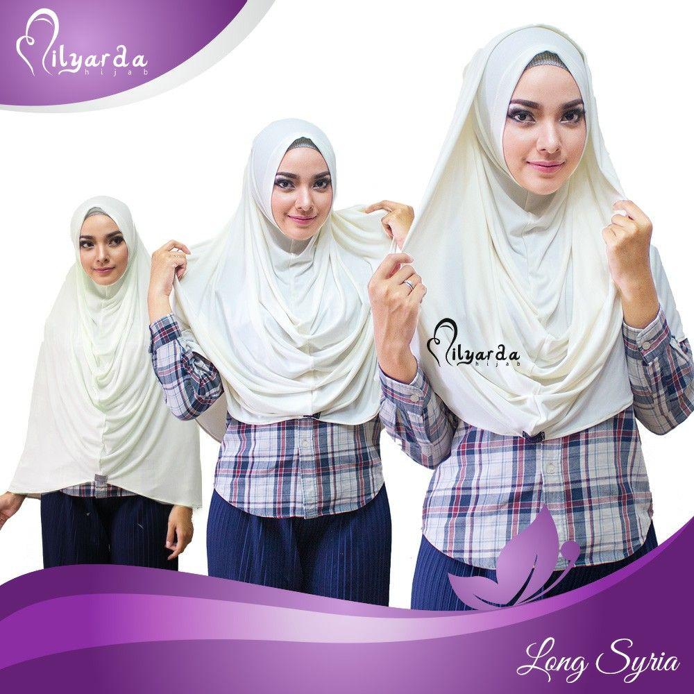 Nama hijab Long syria Tanpa penitik dan jarum pentul