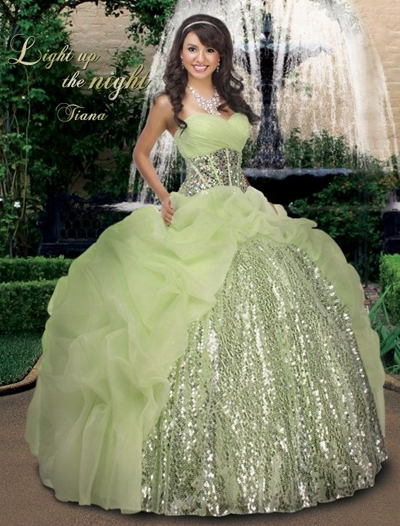 19f4e5da6f Light Up the Night- Tiana Quinceañera dress (The Princess and the Frog)