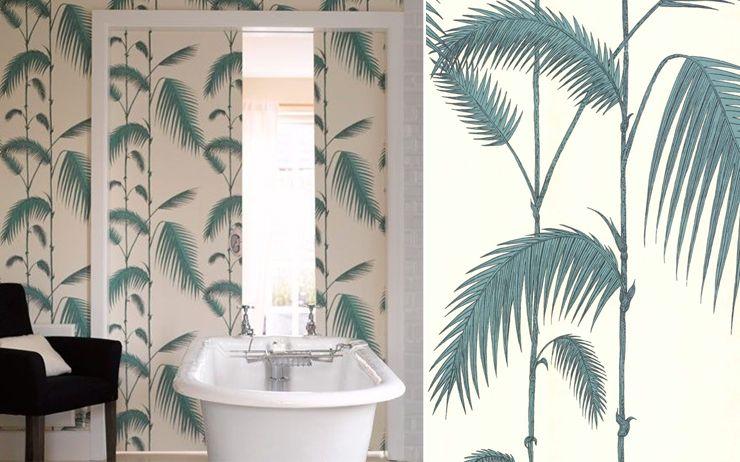papier peint palm leaves cole and son papier peint pinterest papier peint salle de bain. Black Bedroom Furniture Sets. Home Design Ideas