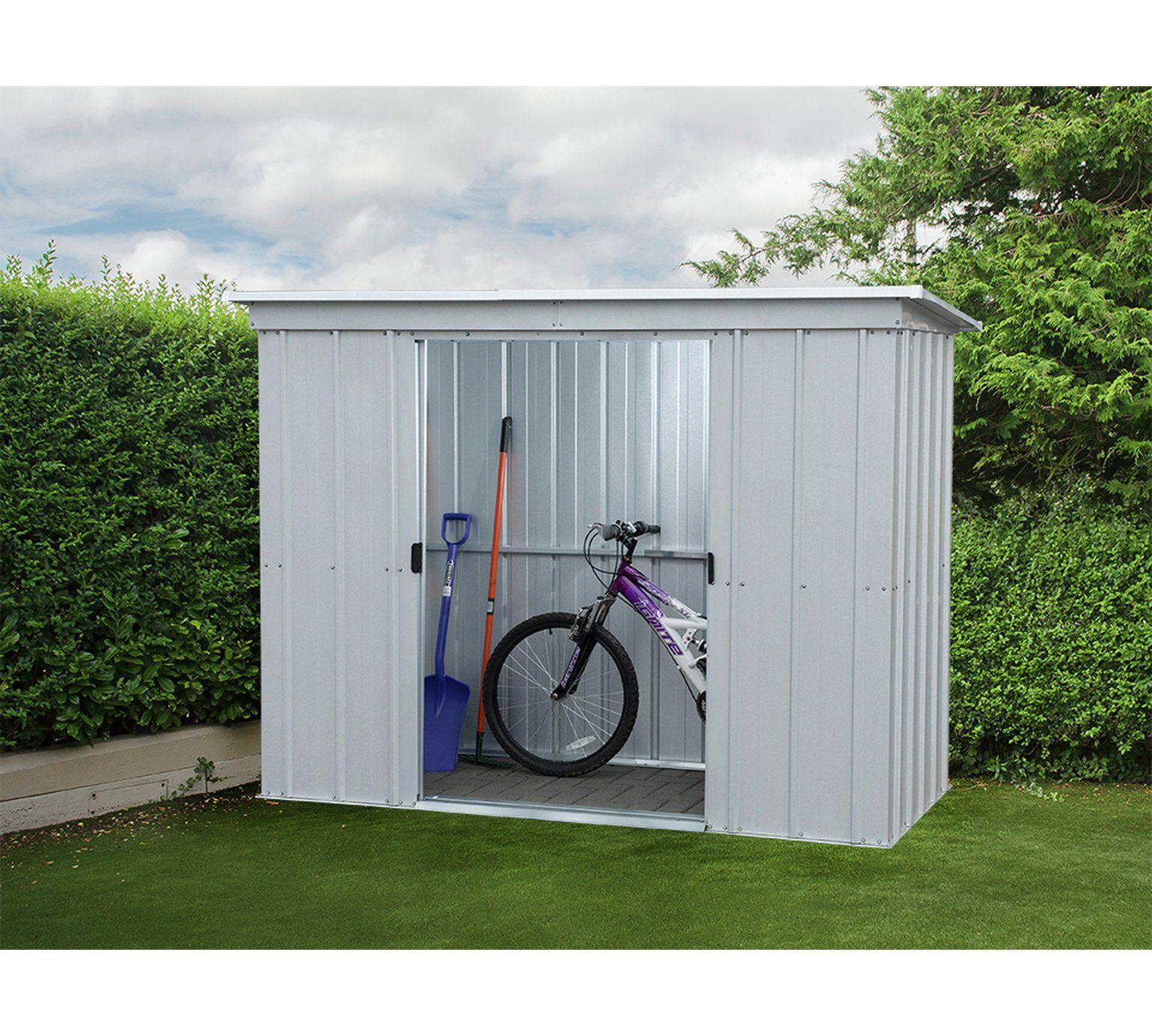 Yardmaster 10 x 4 Pent Metal Shed Garden shed diy, Metal