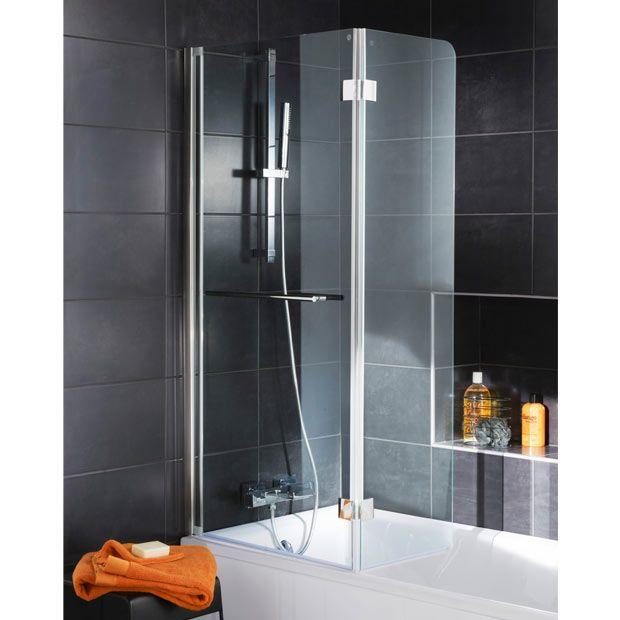 Pare Baignoire Crystal 2 Volets Salle De Bains Bathroom Et Bathtub