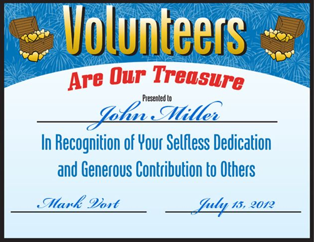 Free volunteering certificate downloads - http\/\/wwwpromosontime - certificates of appreciation