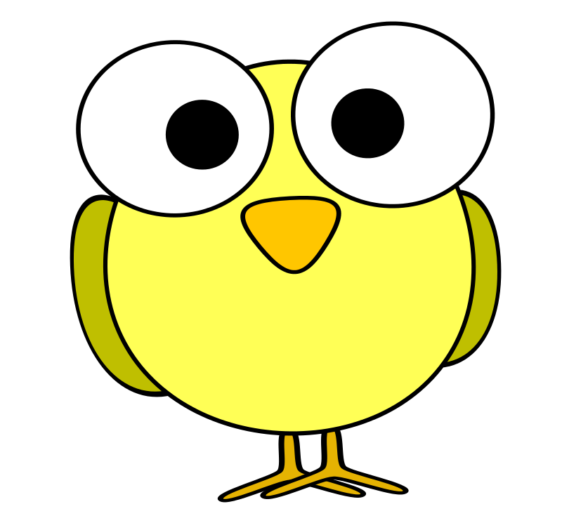 Clipart Yellow Googley Eye Bird Art Drawings For Kids Cartoon Bird Painted Rocks Kids