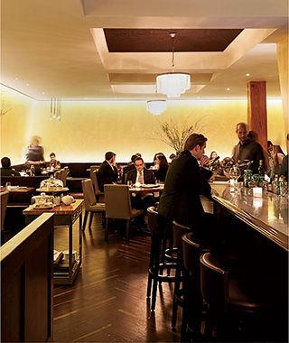 "New York City Though the city's high-voltage restaurant scene assures thrills for all wallets and moods, our favorites now are places with focused menus and big personalities. Downtown glamour meets uptown polish—with nostalgic echoes of Mitteleuropa—at Bâtard, from über-host Drew Nieporent and Austrian chef Markus Glocker. An octopus ""pastrami,"" bewitched into a Gaudí-like mosaic terrine, and hand-pulled strudel filled with apples, raisins, and sweetbreads are among Glocker's assured ..."