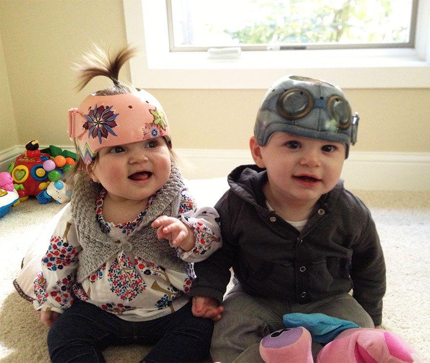 Cute And Fun Helmets For Babies With Plagiocephaly Baby - Baby helmet decalsbaby helmets lee pinterest creative baby helmet and babies