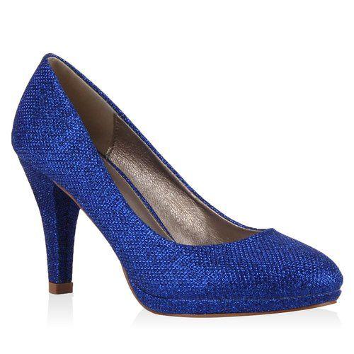 Schuhe damen pumps dunkelblau