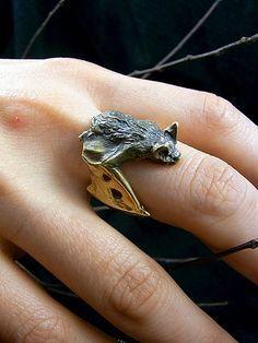 Cute bat ring