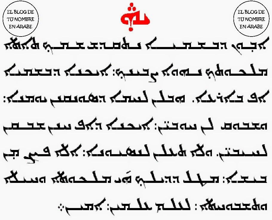 El Padre Nuestro En Arameo Tu Nombre En árabe