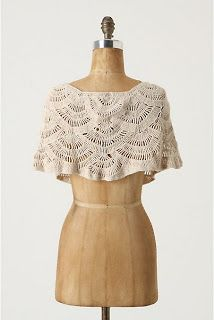 Crochet Fashion: Anthropologie Capelette by Persia Lou #crochet