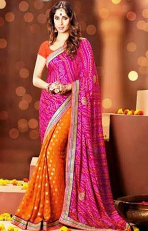 0611cb4b16 All About Bandhani Saree: What types of blouse to wear with Bhandhani saree,  Pointers to keep in mind when buy Bhandhani, How to find if a Bhadhani is  ...