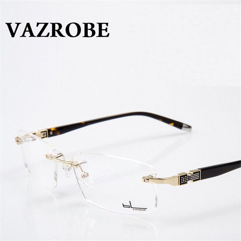 087820e692d compare prices vazrobe rimless glasses frame men clear eyeglasses frames  for male prescription  eyeglass  lenses
