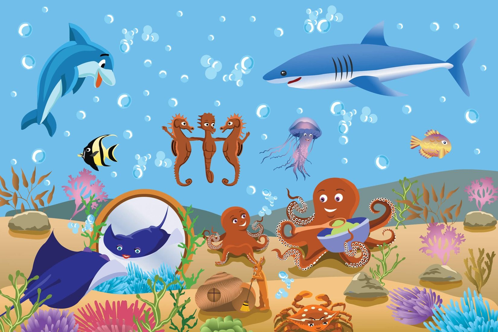 Under The Sea Childrens Wall Mural Muralswallpaper Design